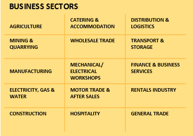 Typical SMME business areas